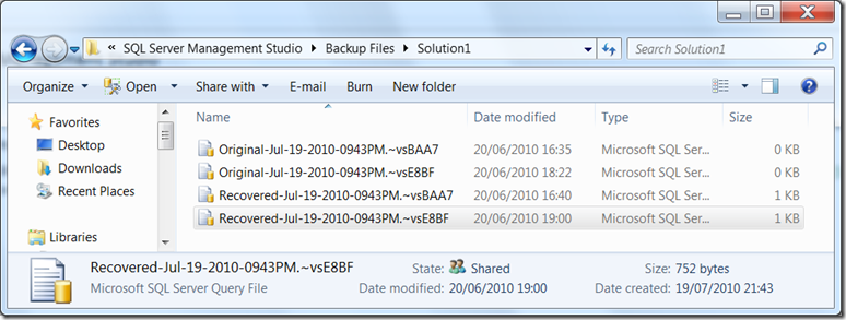 ssms-recover-files